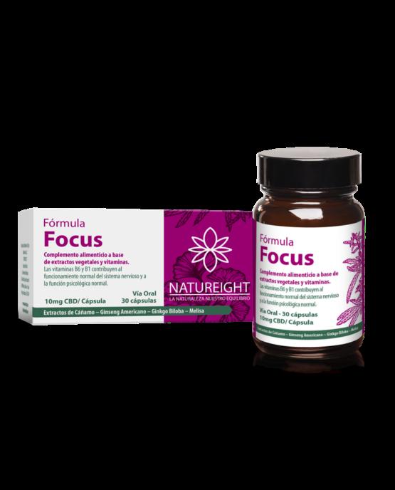Cápsulas de CBD para mejorar la concentración. Focus 30 cápsulas - 300 mg CBD