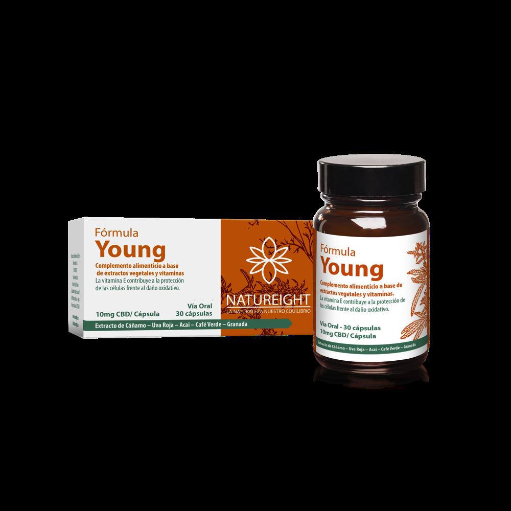 Cápsulas de CBD para mantenerse joven. Young 30 cápsulas - 300 mg CBD